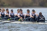 The Cancer Research UK Boat Race season 2017 - Women's Boat Race Fixture OUWBC vs Molesey BC. River Thames between Putney Bridge and Mortlake, London SW15,  United Kingdom, on 19 March 2017 at 16:02, image #59