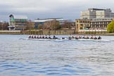 The Cancer Research UK Boat Race season 2017 - Women's Boat Race Fixture OUWBC vs Molesey BC: OUWBC extending their lead further at Palace Wharf. River Thames between Putney Bridge and Mortlake, London SW15,  United Kingdom, on 19 March 2017 at 16:05, image #80