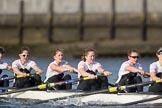 The Cancer Research UK Boat Race season 2017 - Women's Boat Race Fixture OUWBC vs Molesey BC: The Molesey boat, here bow Emma McDonald, 2 Caitlin Boyland, 3 Lucy Primmer, 4 Claire McKeown, 5 Katie Bartlett. River Thames between Putney Bridge and Mortlake, London SW15,  United Kingdom, on 19 March 2017 at 16:05, image #90