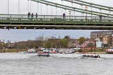 The Cancer Research UK Boat Race season 2017 - Women's Boat Race Fixture OUWBC vs Molesey BC: OUWBC leading at Hammersmith Bridge. River Thames between Putney Bridge and Mortlake, London SW15,  United Kingdom, on 19 March 2017 at 16:07, image #103