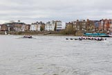 The Cancer Research UK Boat Race season 2017 - Women's Boat Race Fixture OUWBC vs Molesey BC: OUWBC extending their lead around Chiswick Pier. River Thames between Putney Bridge and Mortlake, London SW15,  United Kingdom, on 19 March 2017 at 16:08, image #106