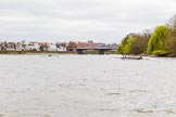 The Cancer Research UK Boat Race season 2017 - Women's Boat Race Fixture OUWBC vs Molesey BC: OUWBC and Molesy about to start the second part of the fixture, near Barnes Railway Bridge. River Thames between Putney Bridge and Mortlake, London SW15,  United Kingdom, on 19 March 2017 at 16:19, image #123