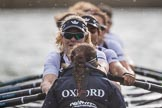 The Cancer Research UK Boat Race season 2017 - Women's Boat Race Fixture OUWBC vs Molesey BC: The OUWBC boat seen from behind - bow Alice Roberts, 2 Beth Bridgman, 3 Rebecca Te Water Naude, 4 Rebecca Esselstein, 5 Chloe Laverack, 6 Harriet Austin, 7 Jenna Hebert, stroke Emily Cameron, cox Eleanor Shearer. River Thames between Putney Bridge and Mortlake, London SW15,  United Kingdom, on 19 March 2017 at 16:22, image #142