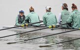 The Boat Race season 2018 - Women's Boat Race Trial Eights (CUWBC, Cambridge): Expecto Patronum with cox-Sophie Shapter, stroke-Alice White,  7-Abigail Parker, 6-Thea Zabell, 5-Kelsey Barolak. River Thames between Putney Bridge and Mortlake, London SW15,  United Kingdom, on 05 December 2017 at 12:02, image #7