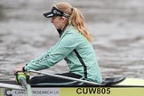 The Boat Race season 2018 - Women's Boat Race Trial Eights (CUWBC, Cambridge): Lucy Pike (bow) in Wingardium Leviosa. River Thames between Putney Bridge and Mortlake, London SW15,  United Kingdom, on 05 December 2017 at 12:03, image #13
