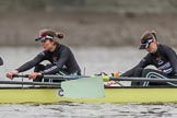 The Boat Race season 2018 - Women's Boat Race Trial Eights (CUWBC, Cambridge): Wingardium Leviosa, here 5 Tricia Smith and 4 Emma Andrews. River Thames between Putney Bridge and Mortlake, London SW15,  United Kingdom, on 05 December 2017 at 12:24, image #29