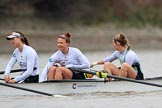 The Boat Race season 2018 - Women's Boat Race Trial Eights (CUWBC, Cambridge): Expecto Patronum:  6-Thea Zabell, 5-Kelsey Barolak, 4-Laura Foster. River Thames between Putney Bridge and Mortlake, London SW15,  United Kingdom, on 05 December 2017 at 12:37, image #35