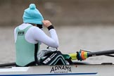 The Boat Race season 2018 - Women's Boat Race Trial Eights (CUWBC, Cambridge): Cox Sophie Shapter (Expecto Patronum). River Thames between Putney Bridge and Mortlake, London SW15,  United Kingdom, on 05 December 2017 at 12:37, image #36