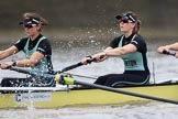 The Boat Race season 2018 - Women's Boat Race Trial Eights (CUWBC, Cambridge): Wingardium Leviosa, here 5 Tricia Smith, 4 Emma Andrews. River Thames between Putney Bridge and Mortlake, London SW15,  United Kingdom, on 05 December 2017 at 12:43, image #53