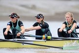 The Boat Race season 2018 - Women's Boat Race Trial Eights (CUWBC, Cambridge): Wingardium Leviosa, with 5 Tricia Smith, 4 Emma Andrews, 3 Pippa Darkin. River Thames between Putney Bridge and Mortlake, London SW15,  United Kingdom, on 05 December 2017 at 12:44, image #64
