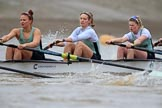 The Boat Race season 2018 - Women's Boat Race Trial Eights (CUWBC, Cambridge): Expecto Patronum  with 5 Tricia Smith, 4 Emma Andrews, 3 Pippa Darkin. River Thames between Putney Bridge and Mortlake, London SW15,  United Kingdom, on 05 December 2017 at 12:44, image #65