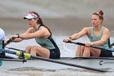 The Boat Race season 2018 - Women's Boat Race Trial Eights (CUWBC, Cambridge): Expecto Patronum  with 6 Larkin Sayre, 5 Tricia Smith. River Thames between Putney Bridge and Mortlake, London SW15,  United Kingdom, on 05 December 2017 at 12:44, image #66