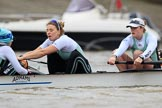 The Boat Race season 2018 - Women's Boat Race Trial Eights (CUWBC, Cambridge): Expecto Patronum  with cox Sophie Shapter, stroke Alice White,  7 Abigail Parker. River Thames between Putney Bridge and Mortlake, London SW15,  United Kingdom, on 05 December 2017 at 12:44, image #67