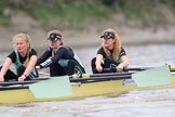The Boat Race season 2018 - Women's Boat Race Trial Eights (CUWBC, Cambridge): Wingardium Leviosa, here 3 Pippa Darkin, 2 Sarah Carlotti, bow Lucy Pike. River Thames between Putney Bridge and Mortlake, London SW15,  United Kingdom, on 05 December 2017 at 12:45, image #72
