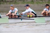 The Boat Race season 2018 - Women's Boat Race Trial Eights (CUWBC, Cambridge): Expecto Patronum, here 3 Pippa Darkin, 2 Sarah Carlotti, bow Lucy Pike. River Thames between Putney Bridge and Mortlake, London SW15,  United Kingdom, on 05 December 2017 at 12:45, image #76