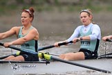 The Boat Race season 2018 - Women's Boat Race Trial Eights (CUWBC, Cambridge): Expecto Patronum, here 5 Kelsey Barolak, 4 Laura Foster. River Thames between Putney Bridge and Mortlake, London SW15,  United Kingdom, on 05 December 2017 at 12:45, image #75