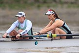 The Boat Race season 2018 - Women's Boat Race Trial Eights (CUWBC, Cambridge): Expecto Patronum, here 7 Abigail Parker, 6 Thea Zabell. River Thames between Putney Bridge and Mortlake, London SW15,  United Kingdom, on 05 December 2017 at 12:45, image #77