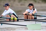 The Boat Race season 2018 - Women's Boat Race Trial Eights (CUWBC, Cambridge): Expecto Patronum, here 2 Millie Perrin, bow Eve Caroe. River Thames between Putney Bridge and Mortlake, London SW15,  United Kingdom, on 05 December 2017 at 12:45, image #81