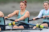 The Boat Race season 2018 - Women's Boat Race Trial Eights (CUWBC, Cambridge): Expecto Patronum, here 6 Thea Zabell, 5 Kelsey Barolak, 4 Laura Foster. River Thames between Putney Bridge and Mortlake, London SW15,  United Kingdom, on 05 December 2017 at 12:46, image #86