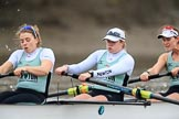The Boat Race season 2018 - Women's Boat Race Trial Eights (CUWBC, Cambridge): Expecto Patronum, here stroke Alice White,  7 Abigail Parker, 6 Thea Zabell. River Thames between Putney Bridge and Mortlake, London SW15,  United Kingdom, on 05 December 2017 at 12:47, image #90