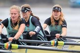 The Boat Race season 2018 - Women's Boat Race Trial Eights (CUWBC, Cambridge): Wingardium Leviosa, here 3 Pippa Darkin, 2 Sarah Carlotti, bow Lucy Pike. River Thames between Putney Bridge and Mortlake, London SW15,  United Kingdom, on 05 December 2017 at 12:50, image #112