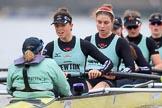 The Boat Race season 2018 - Women's Boat Race Trial Eights (CUWBC, Cambridge): Wingardium Leviosa: Cox-Sophie Wrixon, stroke-Imogen Grant, 7-Myriam Goudet-Boukhatmi, 6-Larkin Sayre, 5-Tricia Smith, 4-Emma Andrews. River Thames between Putney Bridge and Mortlake, London SW15,  United Kingdom, on 05 December 2017 at 12:53, image #127