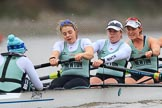 The Boat Race season 2018 - Women's Boat Race Trial Eights (CUWBC, Cambridge): Expecto Patronum: Cox-Sophie Shapter, stroke-Alice White,  7-Abigail Parker, 6-Thea Zabell. River Thames between Putney Bridge and Mortlake, London SW15,  United Kingdom, on 05 December 2017 at 12:53, image #130