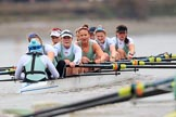 The Boat Race season 2018 - Women's Boat Race Trial Eights (CUWBC, Cambridge): Expecto Patronum:  Cox-Sophie Shapter, stroke-Alice White,  7-Abigail Parker, 6-Thea Zabell, 5-Kelsey Barolak, 4-Laura Foster, 3-Sally O Brien, 2-Millie Perrin, bow-Eve Caroe. River Thames between Putney Bridge and Mortlake, London SW15,  United Kingdom, on 05 December 2017 at 12:56, image #143