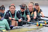 The Boat Race season 2018 - Women's Boat Race Trial Eights (CUWBC, Cambridge): Wingardium Leviosa:  Cox-Sophie Wrixon, stroke-Imogen Grant, 7-Myriam Goudet-Boukhatmi, 6-Larkin Sayre, 5-Tricia Smith, 4-Emma Andrews, 3-Pippa Darkin, 2-Sarah Carlotti, bow-Lucy Pike. River Thames between Putney Bridge and Mortlake, London SW15,  United Kingdom, on 05 December 2017 at 12:56, image #145
