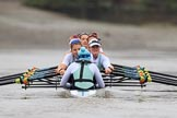 The Boat Race season 2018 - Women's Boat Race Trial Eights (CUWBC, Cambridge): Expecto Patronum:  Cox-Sophie Shapter, stroke-Alice White,  7-Abigail Parker, 6-Thea Zabell, 5-Kelsey Barolak, 4-Laura Foster, 3-Sally O Brien, 2-Millie Perrin, bow-Eve Caroe. River Thames between Putney Bridge and Mortlake, London SW15,  United Kingdom, on 05 December 2017 at 13:00, image #166