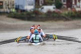 The Boat Race season 2018 - Women's Boat Race Trial Eights (CUWBC, Cambridge): Expecto Patronum:  Cox-Sophie Shapter, stroke-Alice White,  7-Abigail Parker, 6-Thea Zabell, 5-Kelsey Barolak, 4-Laura Foster, 3-Sally O Brien, 2-Millie Perrin, bow-Eve Caroe. River Thames between Putney Bridge and Mortlake, London SW15,  United Kingdom, on 05 December 2017 at 13:00, image #167