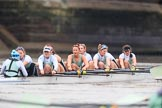 The Boat Race season 2018 - Women's Boat Race Trial Eights (CUWBC, Cambridge): Expecto Patronum:  Cox-Sophie Shapter, stroke-Alice White,  7-Abigail Parker, 6-Thea Zabell, 5-Kelsey Barolak, 4-Laura Foster, 3-Sally O Brien, 2-Millie Perrin, bow-Eve Caroe. River Thames between Putney Bridge and Mortlake, London SW15,  United Kingdom, on 05 December 2017 at 13:01, image #172