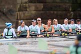 The Boat Race season 2018 - Women's Boat Race Trial Eights (CUWBC, Cambridge): Expecto Patronum:  Cox-Sophie Shapter, stroke-Alice White,  7-Abigail Parker, 6-Thea Zabell, 5-Kelsey Barolak, 4-Laura Foster, 3-Sally O Brien, 2-Millie Perrin, bow-Eve Caroe. River Thames between Putney Bridge and Mortlake, London SW15,  United Kingdom, on 05 December 2017 at 13:02, image #173