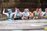 The Boat Race season 2018 - Women's Boat Race Trial Eights (CUWBC, Cambridge): Expecto Patronum:  Cox-Sophie Shapter, stroke-Alice White,  7-Abigail Parker, 6-Thea Zabell, 5-Kelsey Barolak, 4-Laura Foster, 3-Sally O Brien, 2-Millie Perrin, bow-Eve Caroe. River Thames between Putney Bridge and Mortlake, London SW15,  United Kingdom, on 05 December 2017 at 13:02, image #175