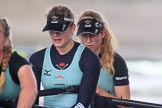 The Boat Race season 2018 - Women's Boat Race Trial Eights (CUWBC, Cambridge): Wingardium Leviosa, beaten after a strong race, here 2 Sarah Carlotti, bow Lucy Pike. River Thames between Putney Bridge and Mortlake, London SW15,  United Kingdom, on 05 December 2017 at 13:02, image #179