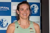 The Boat Race season 2017 - Crew Announcement and Weigh-In: New Zealander Anna Dawson (Newnham) studies for an MPhil in Education. The Francis Crick Institute, London NW1,  United Kingdom, on 14 March 2017 at 11:26, image #34