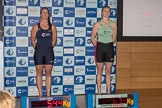 The Boat Race season 2017 - Crew Announcement and Weigh-In: In the 5 seat Harriet Austin (OUWBC) and Holly Hill (CUWBC). The Francis Crick Institute, London NW1,  United Kingdom, on 14 March 2017 at 11:27, image #36