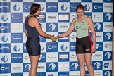 The Boat Race season 2017 - Crew Announcement and Weigh-In: In the 6 seat Chloe Laverack (OUWBC) and Alice White (CUWBC). The Francis Crick Institute, London NW1,  United Kingdom, on 14 March 2017 at 11:28, image #41