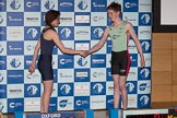 The Boat Race season 2017 - Crew Announcement and Weigh-In: Cox Eleanor Shearer (OUWBC) and Matthew Holland (CUWBC). The Francis Crick Institute, London NW1,  United Kingdom, on 14 March 2017 at 11:30, image #59