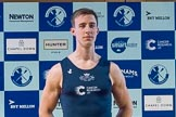 The Boat Race season 2017 - Crew Announcement and Weigh-In: Bow William Warr (OUBC). The Francis Crick Institute, London NW1,  United Kingdom, on 14 March 2017 at 11:35, image #78