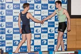 The Boat Race season 2017 - Crew Announcement and Weigh-In: In the 2 seat Matthew O'Leary (OUBC) and Feddie Davidson (CUBC). The Francis Crick Institute, London NW1,  United Kingdom, on 14 March 2017 at 11:36, image #80