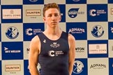 The Boat Race season 2017 - Crew Announcement and Weigh-In: Matthew O'Leary (OUBC). The Francis Crick Institute, London NW1,  United Kingdom, on 14 March 2017 at 11:36, image #82