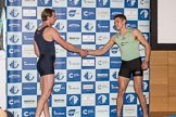 The Boat Race season 2017 - Crew Announcement and Weigh-In: In the 5 seat Olivier Siegelaar (OUBC) and Aleksander Malowany (CUBC). The Francis Crick Institute, London NW1,  United Kingdom, on 14 March 2017 at 11:38, image #92