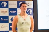 The Boat Race season 2017 - Crew Announcement and Weigh-In: Patrick Eble (CUBC). The Francis Crick Institute, London NW1,  United Kingdom, on 14 March 2017 at 11:39, image #100