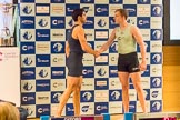 The Boat Race season 2017 - Crew Announcement and Weigh-In: Stroke Vassilis Ragoussis (OUBC) and Henry Meek (CUBC). The Francis Crick Institute, London NW1,  United Kingdom, on 14 March 2017 at 11:40, image #105