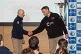 The Boat Race season 2017 - Crew Announcement and Weigh-In: OUBC Head Coach Seab=n Bowden and CUBC Head Coach Steve Trapmore. The Francis Crick Institute, London NW1,  United Kingdom, on 14 March 2017 at 11:45, image #117