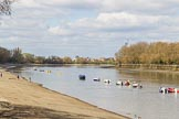 The Boat Race season 2017 -  The Cancer Research Women's Boat Race: The River Thames at Putney on the day of the Boat Race - calm and sunny weather conditions. River Thames between Putney Bridge and Mortlake, London SW15,  United Kingdom, on 02 April 2017 at 13:18, image #1