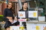 The Boat Race season 2017 -  The Cancer Research Women's Boat Race: The Thai Square restaurant selling Pimm's amd Singha on Boat Race day. River Thames between Putney Bridge and Mortlake, London SW15,  United Kingdom, on 02 April 2017 at 13:24, image #3