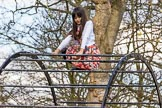 The Boat Race season 2017 -  The Cancer Research Women's Boat Race: Young lady enjoying the sunshine in Bishop's Park. River Thames between Putney Bridge and Mortlake, London SW15,  United Kingdom, on 02 April 2017 at 13:43, image #7