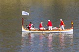 The Boat Race season 2017 -  The Cancer Research Women's Boat Race: Historic boats on the Thames to keep the crowds entertained. River Thames between Putney Bridge and Mortlake, London SW15,  United Kingdom, on 02 April 2017 at 13:59, image #10